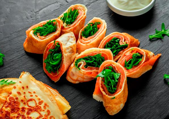 receta sencilla de creps de salmon
