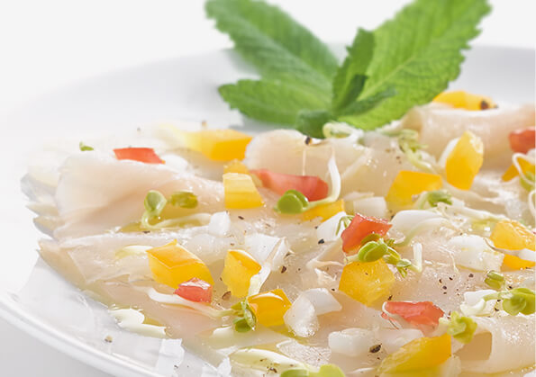 receta de carpaccio de bacalao