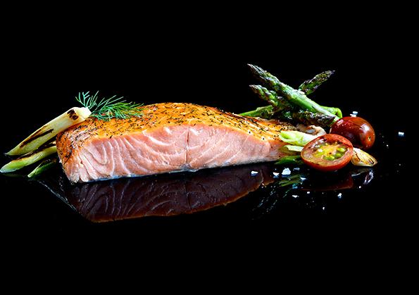 salmon al horno con miel y limon