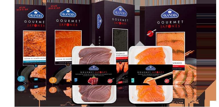 sashimi de atun y salmon para hacer sushi japones