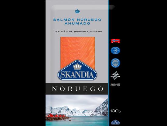 paquete pequeño de salmon noruego ahumado