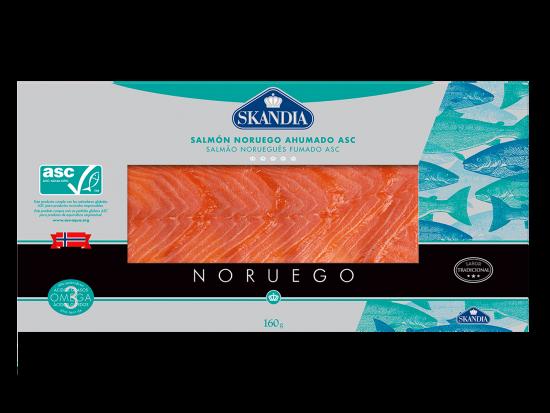 lonchas de salmon noruego ahumado asc