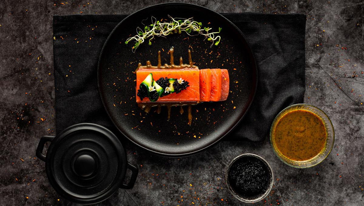 receta de solomillo de salmon con vinagreta especial