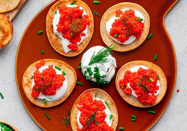 recetas con caviar rojo
