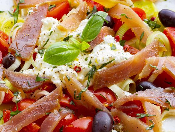 receta ensalada mediterranea de pasta